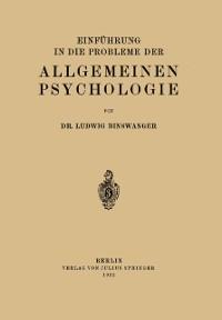 Cover Einfuhrung in die Probleme der Allgemeinen Psychologie