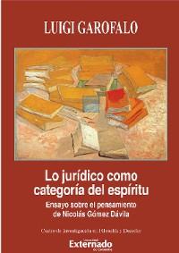 Cover Lo jurídico como categoría del espíritu.
