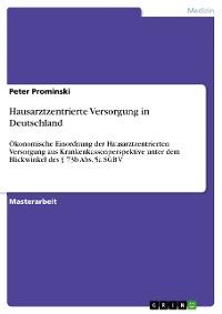 Cover Hausarztzentrierte Versorgung in Deutschland