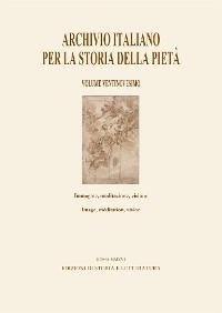Cover Archivio italiano per la storia della pietà