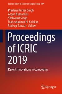 Cover Proceedings of ICRIC 2019