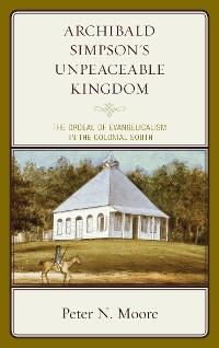Cover Archibald Simpson's Unpeaceable Kingdom