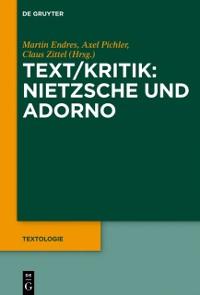 Cover Text/Kritik: Nietzsche und Adorno