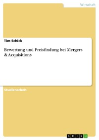 Cover Bewertung und Preisfindung bei Mergers & Acquisitions