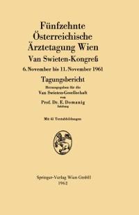 Cover Funfzehnte Osterreichische Arztetagung Wien Van Swieten-Kongre
