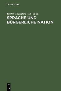 Cover Sprache und bürgerliche Nation