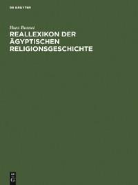 Cover Reallexikon der ägyptischen Religionsgeschichte