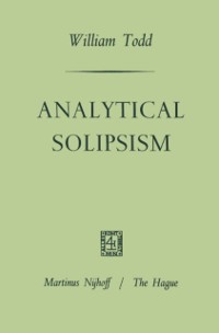 Cover Analytical Solipsism