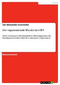 Cover Der organisationale Wandel des IWF