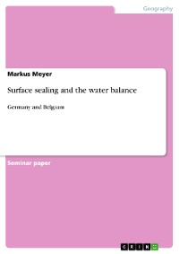 Cover Surface sealing and the water balance