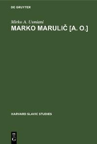 Cover Marko Marulič [a. o.]