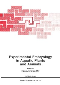 Cover Experimental Embryology in Aquatic Plants and Animals