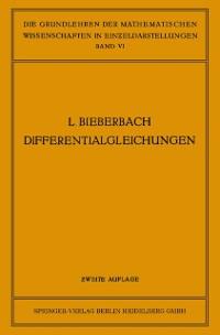 Cover Theorie der Differentialgleichungen