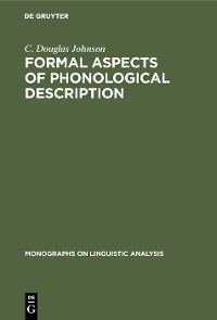 Cover Formal Aspects of Phonological Description