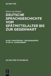 Cover Einführung · Grundbegriffe · 14. bis 16. Jahrhundert