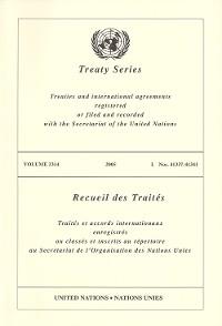 Cover Treaty Series 2314/Recueil des Traités 2314