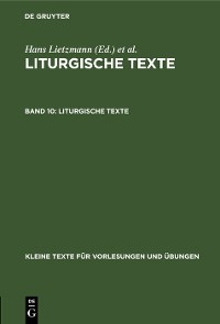Cover Liturgische Texte