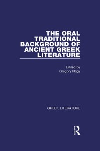 Cover Oral Traditional Background of Ancient Greek Literature