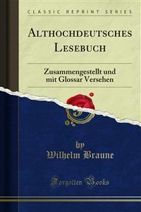 Cover Althochdeutsches Lesebuch
