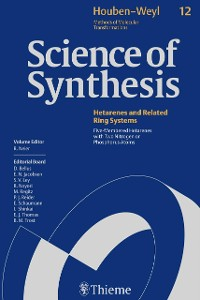 Cover Science of Synthesis: Houben-Weyl Methods of Molecular Transformations  Vol. 12