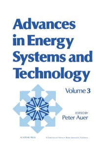 Cover Advances in Energy Systems and Technology