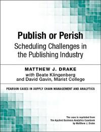 Cover Publish or Perish