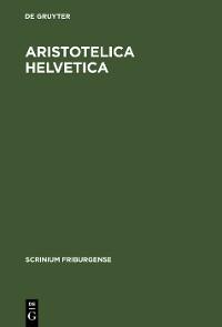 Cover Aristotelica Helvetica