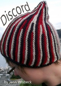 Cover Discord Short Row Hat Knitting Pattern