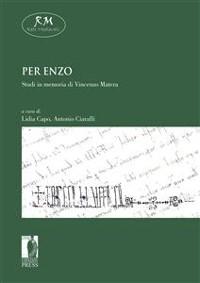 Cover Per Enzo. Studi in memoria di Enzo Matera
