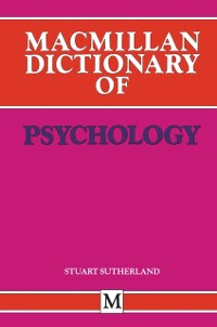 Cover Macmillan Dictionary of Psychology