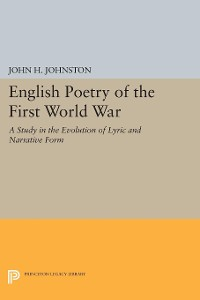 Cover English Poetry of the First World War