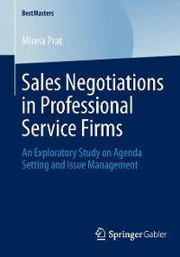 Cover Sales Negotiations in Professional Service Firms