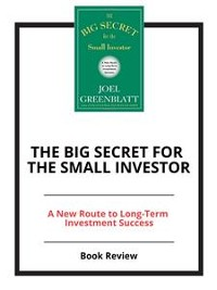 Cover The Big Secret for the Small Investor