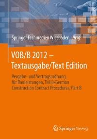 Cover VOB/B 2012 - Textausgabe/Text Edition