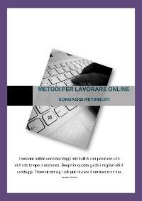 Cover Metodi per lavorare online - Sondaggi retribuiti