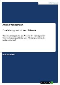 Cover Das Management von Wissen