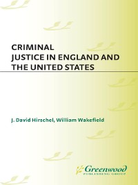 Cover Criminal Justice in England and the United States