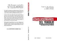 Cover Revolucionarios del Trabajo