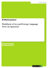 Cover Washback of Second/Foreign Language Tests. An Appraisal