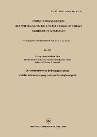 Cover Die nichtstationaren Stromungsvorgange und der Warmeubergang in einem Schwingfeuergerat