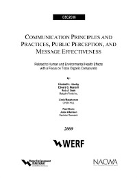 Cover Communication Principles and Practices, Public Perception and Message Effectiveness