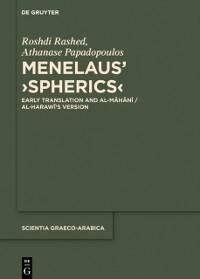 Cover Menelaus' Spherics