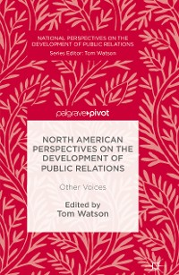Cover North American Perspectives on the Development of Public Relations