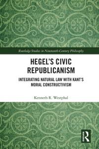 Cover Hegel's Civic Republicanism