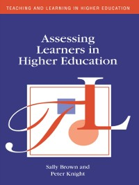 Cover Assessing Learners in Higher Education