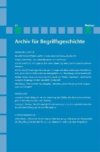 Cover Archiv für Begriffsgeschichte / Archiv für Begriffsgeschichte. Band 51