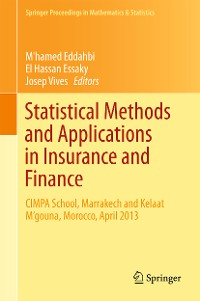 Cover Statistical Methods and Applications in Insurance and Finance