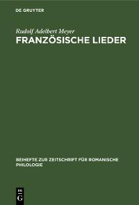 Cover Französische Lieder