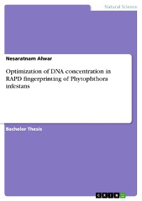 Cover Optimization of DNA concentration in RAPD fingerprinting of Phytophthora infestans