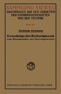Cover Grundzuge der Kolloidphysik